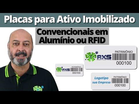 Placas de Identificação do Ativo Fixo Consultoria Empresarial Passivo Bancário Ativo Imobilizado Ativo Fixo