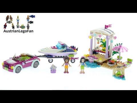 Vidéo LEGO Friends 41316 : Le transporteur de hors-bord d'Andrea