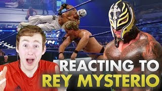 MMA FAN REACTS TO REY MYSTERIO FOR THE FIRST TIME (dude can fly...)