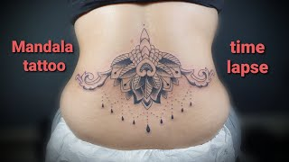 MANDALA TATTOO LOWER BACK / TIME LAPSE By: ANCIENT TATTOO
