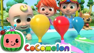 Balloon Boat Race | CoCoMelon Nursery Rhymes & Kids Songs