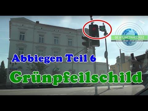 Abbiegen Teil 6 - Grünpfeilschild - Fahrstunde - Prüfungsfahrt