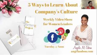 5 Ways to Learn About a Company's Culture