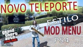 👑NOVO TRUQUE ESTILO MOD MENU HACKER PS4! GTA V Online: teletransporte por toda sessão COMPLETO