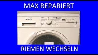 Siemens Trockner dreht nicht  Riemen wechseln - MAX REPARIERT