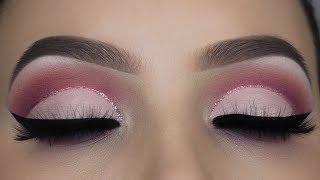 Soft Pink Glitter Cut Crease Tutorial