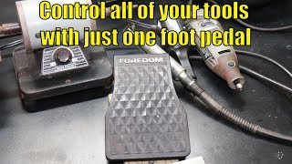 How to use a Foredom foot control pedal with more than one tool