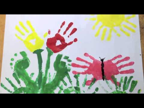 Four cute handprint art projects