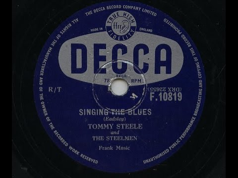 Tommy Steele 'Singing The Blues' 1956 78 rpm