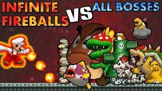 [TAS] Infinite Fireballs Mario VS All Bosses | HD 60FPS