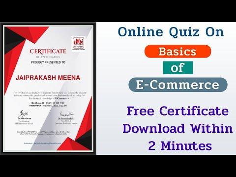 E-Commerce Free Quiz Certificate - YouTube