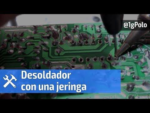 Cómo hacer un desoldador de circuitos con jeringas desechables por @1gPolo