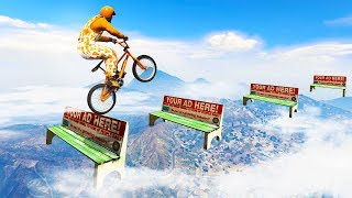 98% IMPOSSIBLE BMX STUNT RACE! (GTA 5 Races)