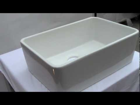 Video for 23 Inch Fireclay Farmhouse Kitchen Sink