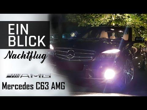 Mercedes C63 AMG - Eine Nacht voller Klang, 100-200 km/h und Vmax