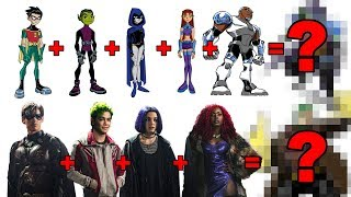 DC CHARACTER FUSIONS!  4 TEEN TITANS MASHUPS!