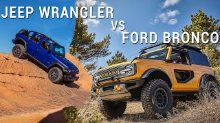 2021 Ford Bronco Vs 2020 Jeep Wrangler | Comparison | Autotrader