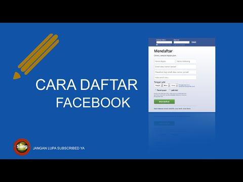 Video Cara Daftar Facebook Yang Benar