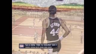 George Gervin 41 Points Vs Nuggets 1985 Game 2