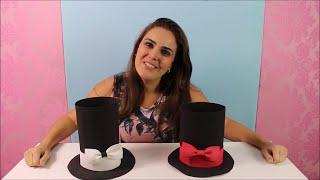 Aprenda nesta vídeo aula tutorial, passo a passo, como fazer uma cartola em EVA.