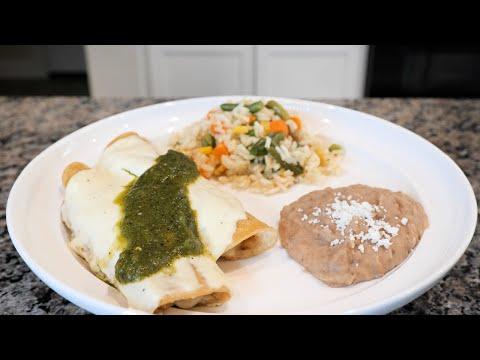 Enchiladas | Potato enchiladas w White Mexican Cotija Cream Sauce Recipe