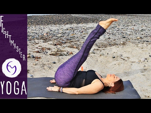 20 Minute Yoga For Core Strength 6-pack Abs! | Fightmaster Yoga Videos