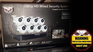 Night Owl - Extreme HD 8-Channel, 8-Camera Wired 1TB DVR Surveillance System