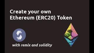 Erstellen Sie Ethereum Token Tutorial