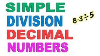 Division of Decimal Numbers - Hindi (2016)