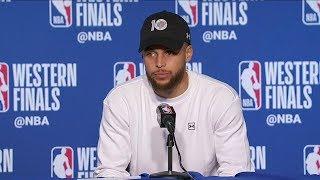Stephen Curry Postgame Interview - Game 2 | Trail Blazers vs Warriors | 2019 NBA Playoffs