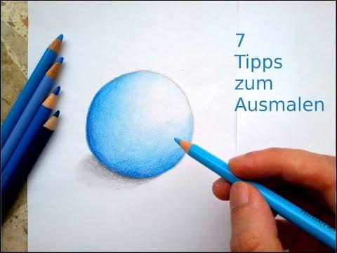 Richtig Ausmalen mit Buntstiften   7 Tipps!