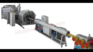 preview picture of video 'pvc lay flat hose machine fiber knitting online'