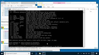 Windows 10 iPerf3 (Network Speed Test Software) Install and Demonstration
