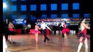 preview picture of video 'Cha-cha, pow.15, klasa E, Turniej Tańca, Sułkowice 03.02.2013'