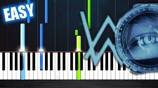 Alan Walker - The Spectre - EASY Piano Tutorial By PlutaX