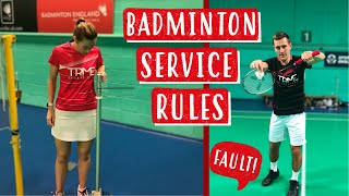 Badminton Service Rules - A quick and simple explanation of the 4 service rules in badminton!