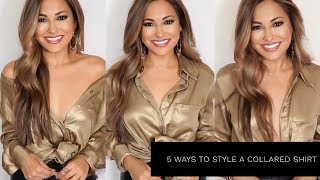 6 WAYS TO STYLE A COLLARED SHIRT | Lina Noory