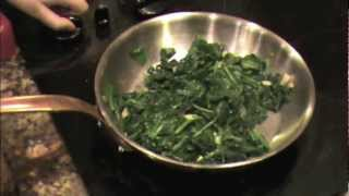 Sauteed Spinach and Garlic (The Healthy Way)