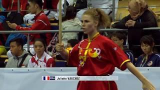 Les vidéos des superbes prestations de Juliette et Benoit au 14e championnat du monde de kung fu !!