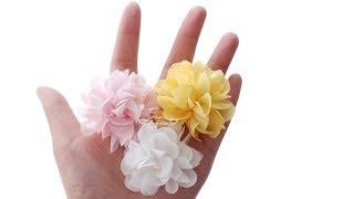 Mini Ruffle Fabric Flower - Fabric Ruffle Flower Tutorial