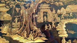 Cận Cảnh Bức Đồng Quê Bằng Đồng 2m26x1m76 Cực Đẹp