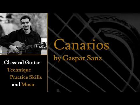 """Canarios"" (Canaries), written by the brilliant Renaissance lute composer Gaspar Sanz."
