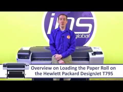 Hướng dẫn lắp giấy máy in khổ lớn HP T795