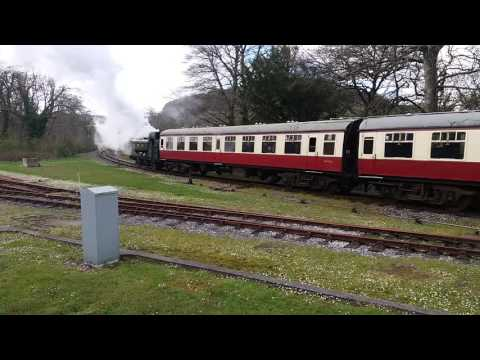 GWR Tank Engine 4612 departs Bodmin Parkway 26th April 2016