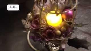 クリスマスキャンドルライトアレンジレッスン/広島安芸郡府中町プリザーブドフラワー教室