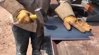 How to break sheet metal without a break