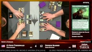 Pro Tour Dragons of Tarkir Round 6 (Standard) Owen Turtenwald vs. Stephen Madden
