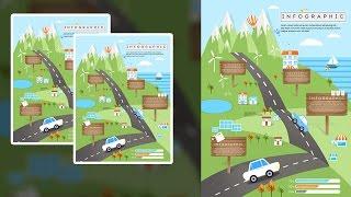 Photoshop Tutorial - Graphic Design -  Infographic - Flat Design