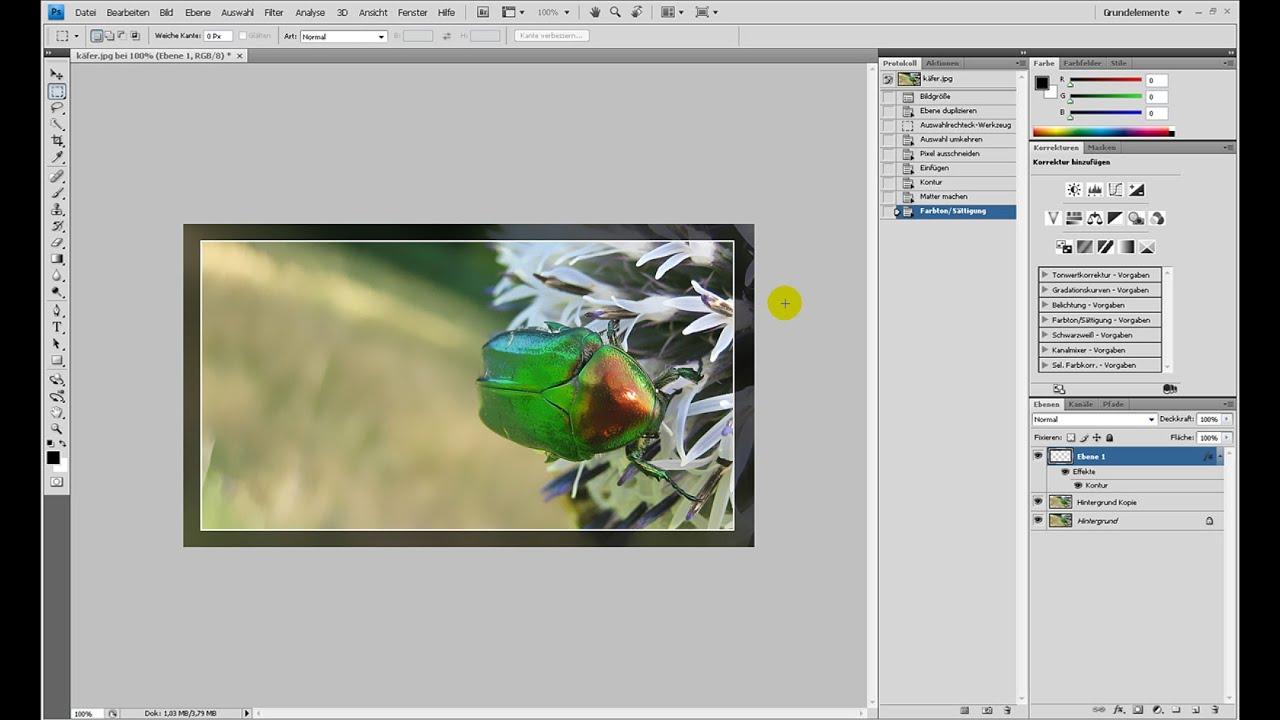 Einfache Rahmen – Photoshop-Tutorial