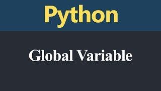 Global Variable in Python (Hindi)